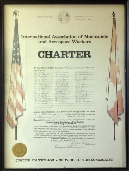 Original Charter for Local Lodge 2413